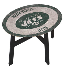 New York Jets Team Color Wood Side Table