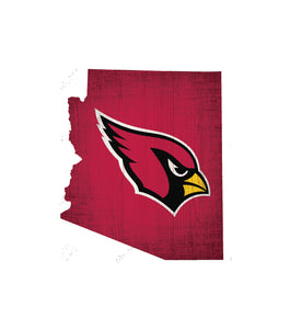 Arizona Cardinals State Wood Sign