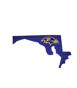 Baltimore Ravens State Wood Sign