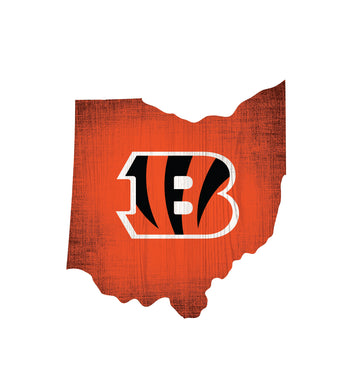 Cincinati Bengals wood sign