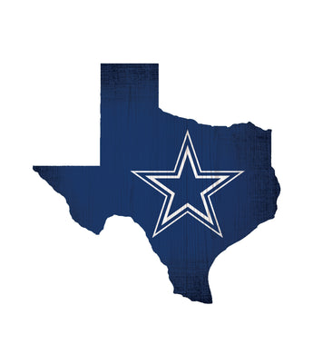 Dallas Cowboys State Wood Sign