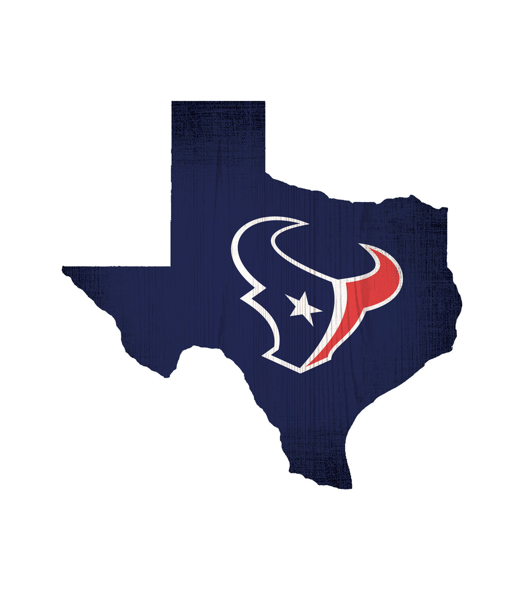 Houston Texans State Wood Sign