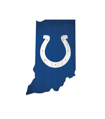 Indianapolis Colts State Wood Sign