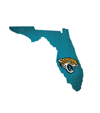 Jacksonville Jaguars State Wood Sign