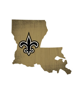 New Orleans Saints State Wood Sign