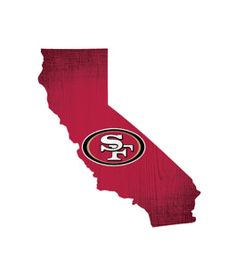 San Francisco 49ers State Wood Sign