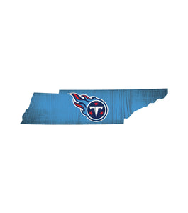 Tennessee Titans State Wood Sign
