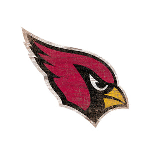 Arizona Cardinals Distressed Logo Cutout Sign
