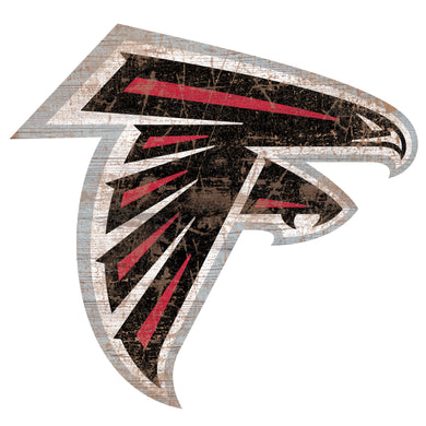 Atlanta Falcons Distressed Logo Cutout Sign