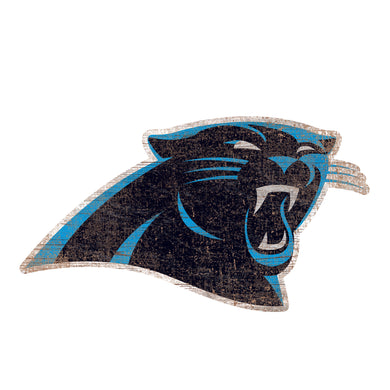 Carolina Panthers Distressed Logo Cutout Sign