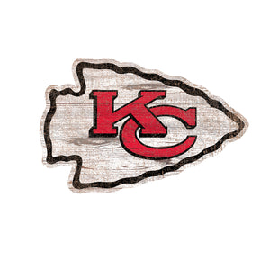Kansas City Chiefs Distressed Logo Cutout Sign