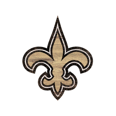 New Orleans Saints Distressed Logo Cutout Sign