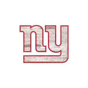 New York Giants Distressed Logo Cutout Sign