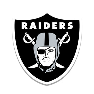 Oakland Raiders Distressed Logo Cutout Sign