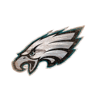 Philadelphia Eagles Distressed Logo Cutout Sign