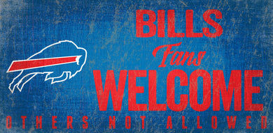 Buffalo Bills Fans Welcome Wood Sign