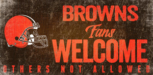 Cleveland Browns Fans Welcome Wood Sign