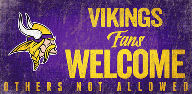Minnesota Vikings Fans Welcome Wood Sign - 12
