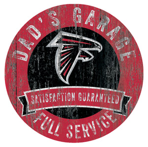 Atlanta Falcons Dad's Garage Sign