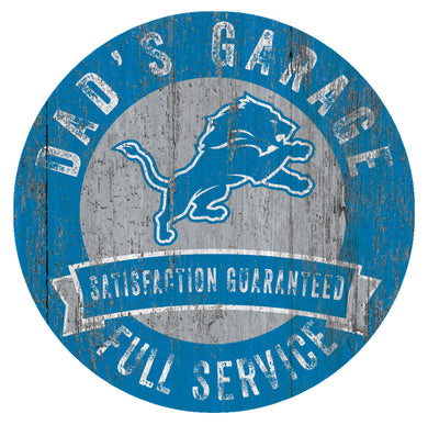 Detroit Lions Dad's Garage Sign