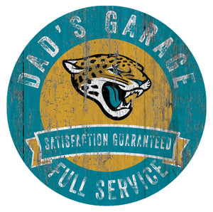Jacksonville Jaguars Dad's Garage Sign