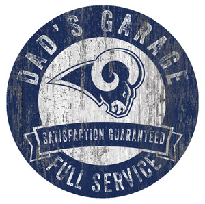 Los Angeles Rams Dad's Garage Sign