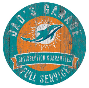 Miami Dolphins Dad's Garage Sign