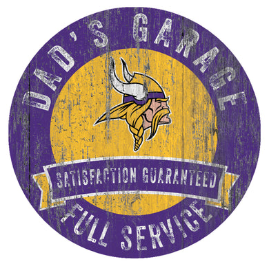 Minnesota Vikings Dad's Garage Sign