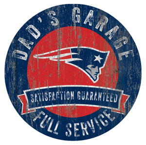 New England Patriots Dad's Garage Sign