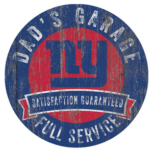 New York Giants Dad's Garage Sign