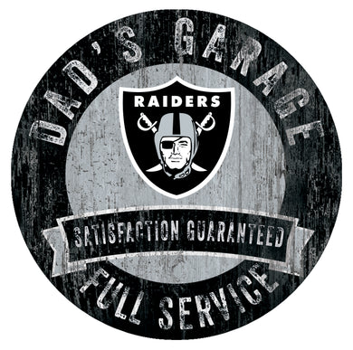 Oakland Raiders Dad's Garage Sign