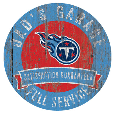 Tennessee Titans Dad's Garage Sign