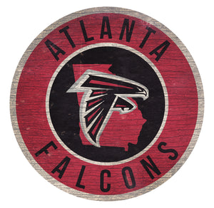 Atlanta Falcons Circle State Sign - 12""