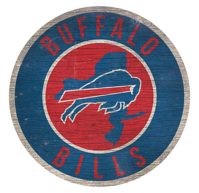 Buffalo Bills Circle State Sign - 12