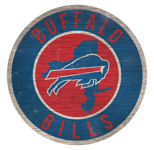 Buffalo Bills Circle State Sign - 12""