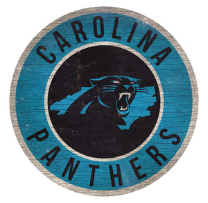 Carolina Panthers Circle State Sign - 12""