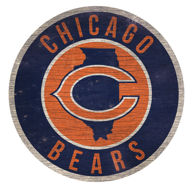 Chicago Bears Circle State Sign - 12