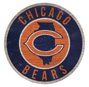 Chicago Bears Circle State Sign - 12""