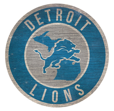 Detroit Lions Circle State Sign - 12