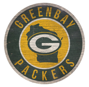 Green Bay Packers Circle State Sign - 12""