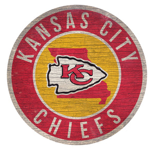 Kansas City Chiefs Circle State Sign - 12""