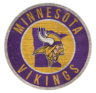 Minnesota Vikings Circle State Sign - 12