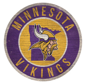Minnesota Vikings Circle State Sign - 12""