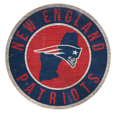 New England Patriots Circle State Sign - 12