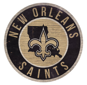New Orleans Saints Circle State Sign - 12""