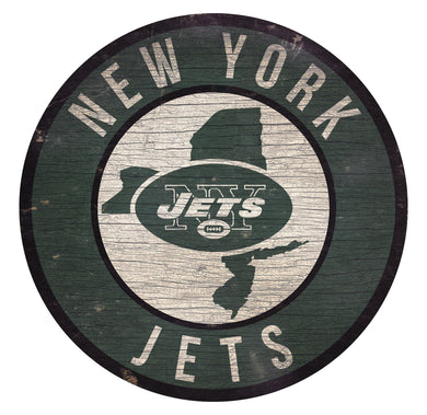 New York Jets Circle State Sign - 12