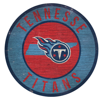 Tennessee Titans Circle State Sign - 12