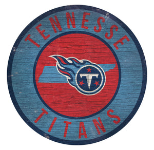 Tennessee Titans Circle State Sign - 12""