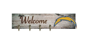 "Los Angeles Chargers Coat Hanger - 24""x6"""