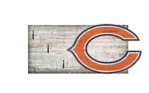 "Chicago Bears Key Holder 6""x12"""